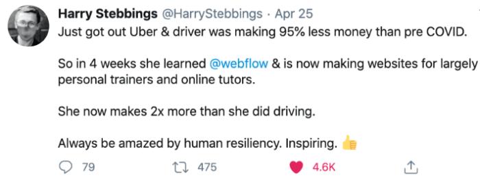 Tweet de H. STEBBINGS