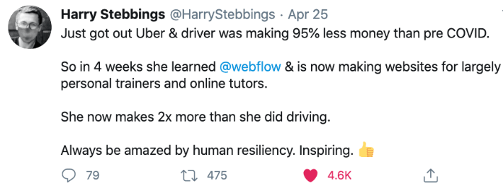 Tweet de H. STEBBINGS